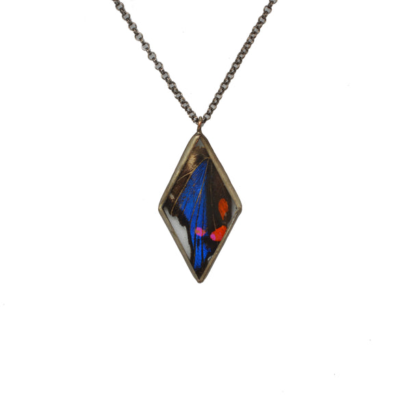Sapphire Beautymark Diamond Pendant {One of a Kind}