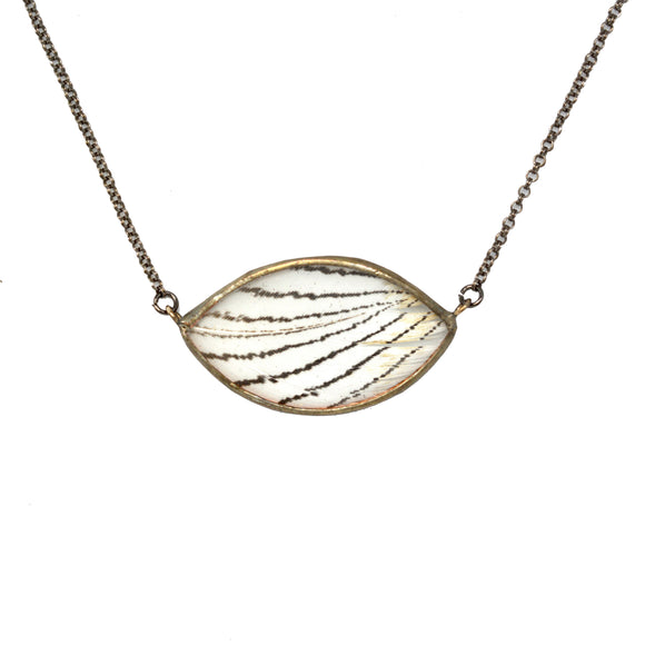 Silver Pheasant Infinite Eye Necklace {One of a Kind}