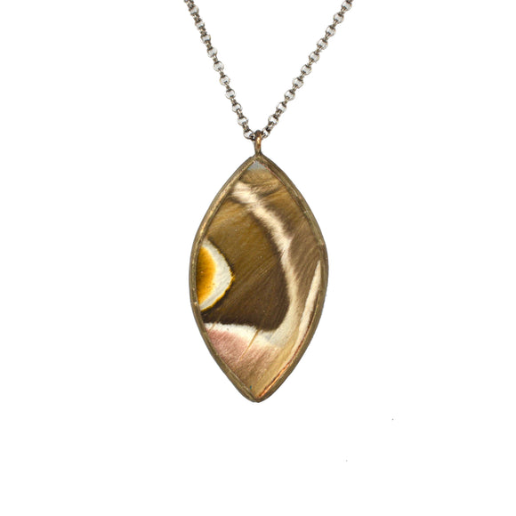 The Center Awaits Saturnidae Moth Wing Necklace {One of a Kind}
