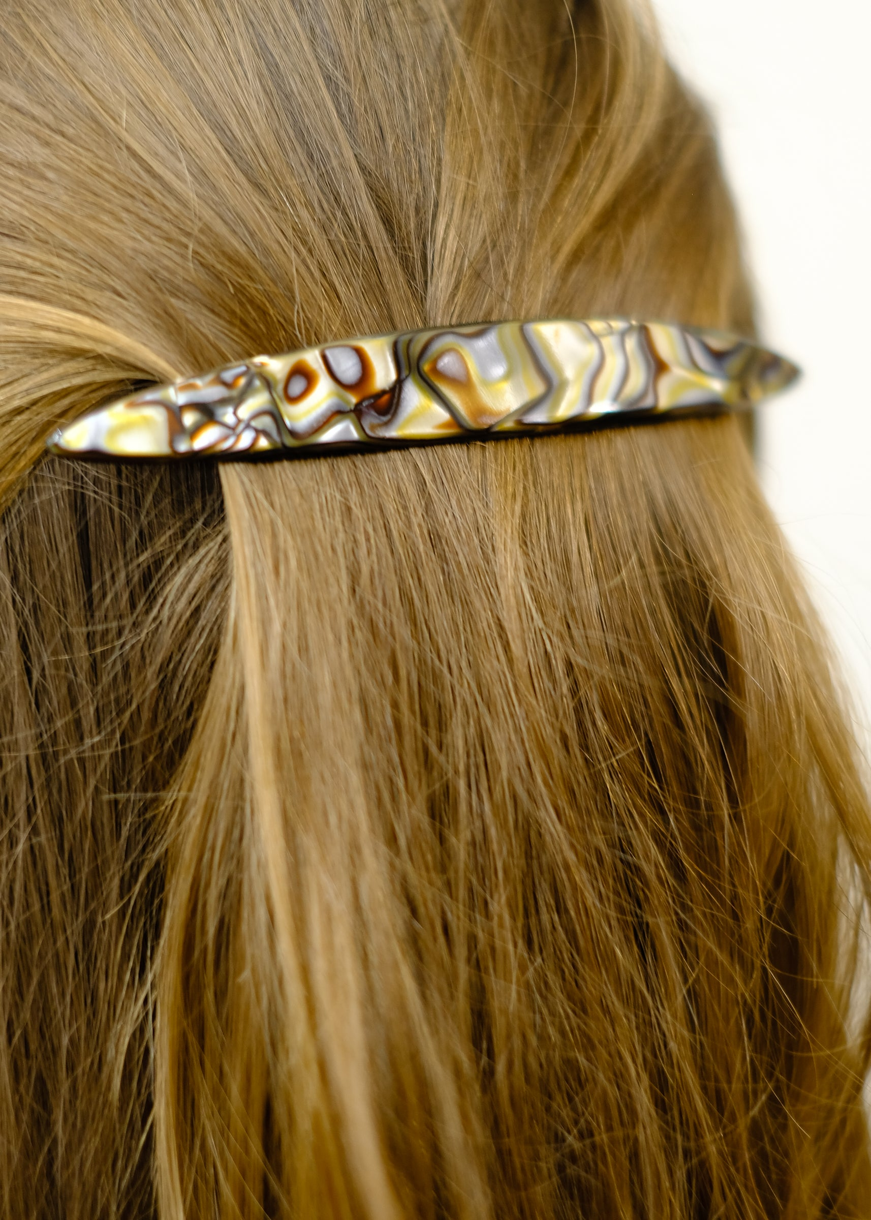 Oblong Long and Skinny Barrette - Classic