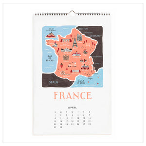 Kalender 'Map of the World'