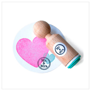 Stempel 'Mr & Mrs'