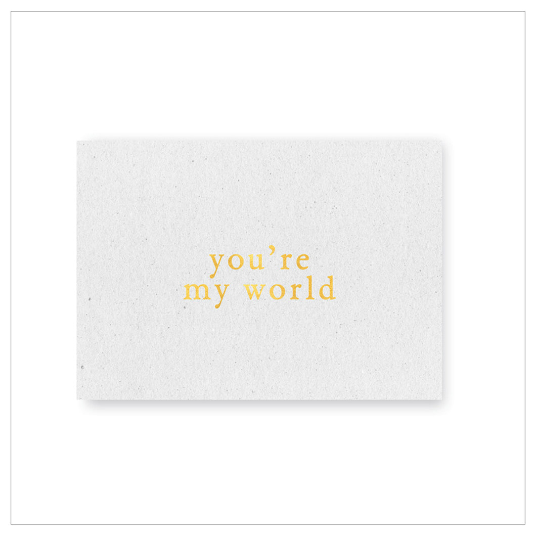 Postkaart 'You're my world'