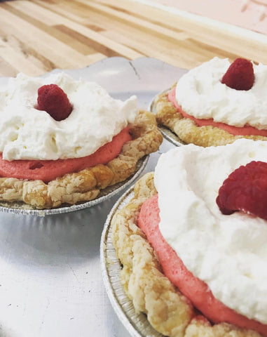 Raspberry Chiffon Mini Pie