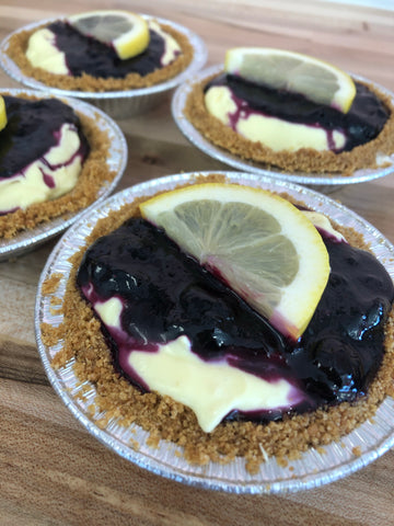 Mini Blueberry Lemon Cream Pie