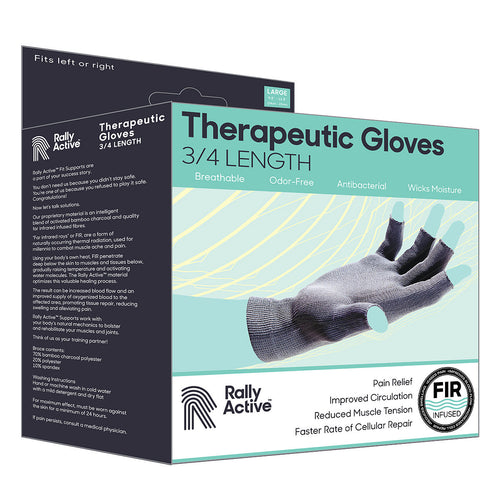 Therapeutic Healing Gloves 3/4 Length - Rally Active
