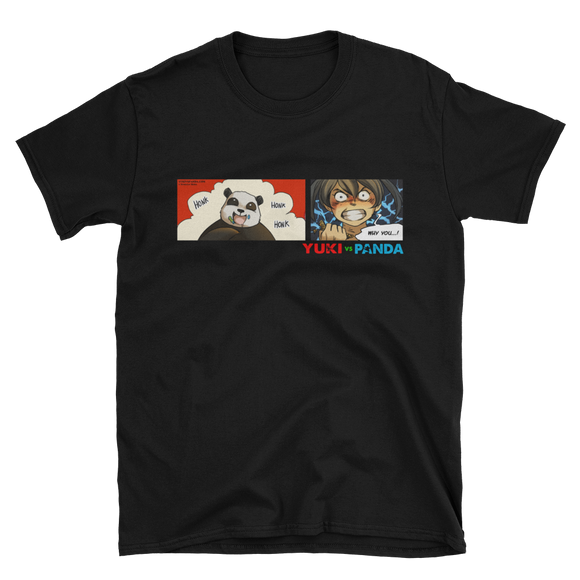 Unisex T-Shirt - Yuki vs. Panda: Young Rivals! - Duskleaf Media