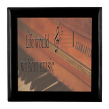 Piano Music Keepsake Box