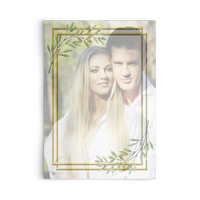 Wedding Invitation - Gold Frame