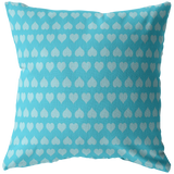 Personalize a Blue Heart Pillow