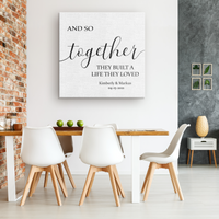 and so together - canvas