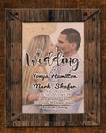 Wood Frame Print Invitations