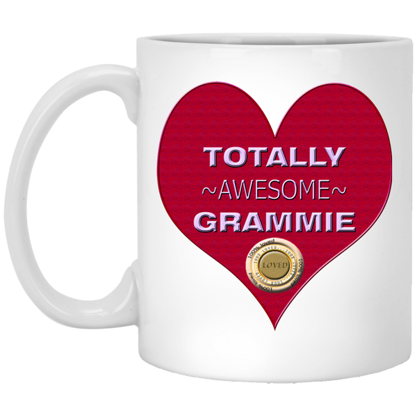 GRAMMY RED XP8434 11 oz. White Mug