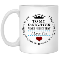 Daughter 11 oz. White Mug