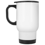 PERSONALIZE-WHITE STAINLESS 14 OZ. MUG