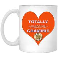 GRAMMY BR ORANGE XP8434 11 oz. White Mug