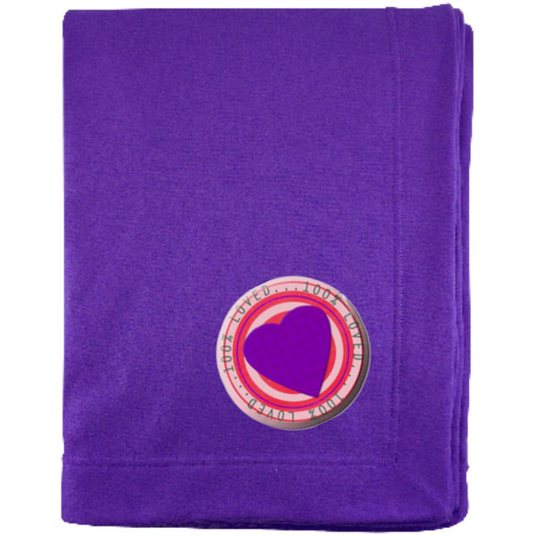 purple 100% G129E Gildan Sweatshirt Blanket