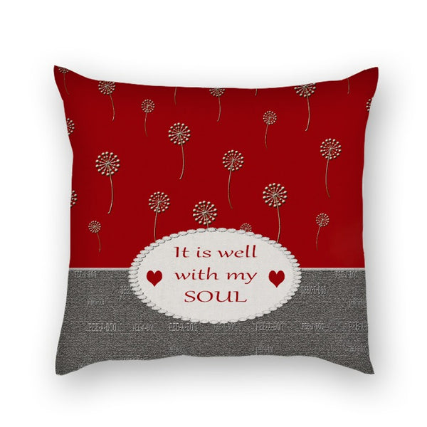 C)Personalize - It is well in my soul -Pillow/Cover