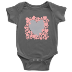 HEART FRAMED TEXT BABY ONESIE