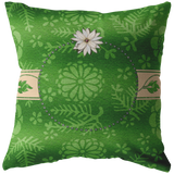 Personalize green Pillow