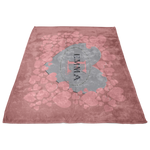 Personalize Heart Fleece Blanket