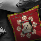 Charley Christmas Pillow-Scannable SAMPLE