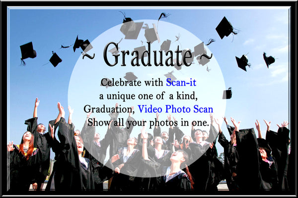 Graduation - Video Photo Scan with Cards