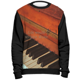Sweatshirt - Sannable Piano Print