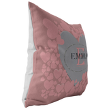 Personalize Pink Heart Pillow