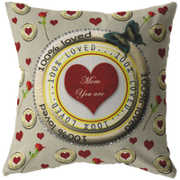100% LOVED - MOM PILLOW