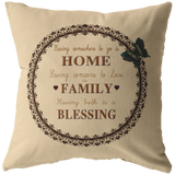 HOME FAMILY BLESSING-PILLOW