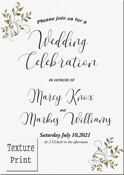 Texture Dellima Invitations