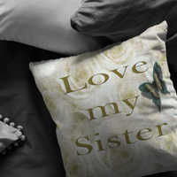I Love My Sister Pillow