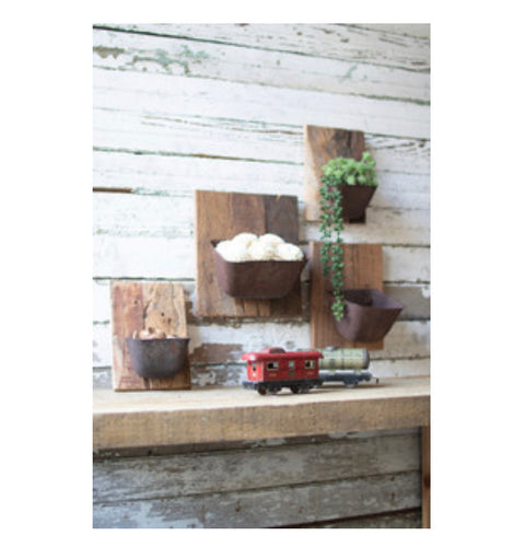 Grain Belt Bucket Wall Planter set of 4