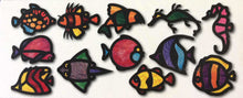 Roylco Tropical Fish Stained Glass Frames