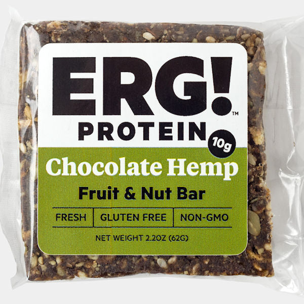 Chocolate Hemp ERG! Fruit & Nut Bar