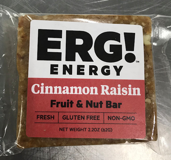Cinnamon Raisin ERG! Fruit & Nut Bar