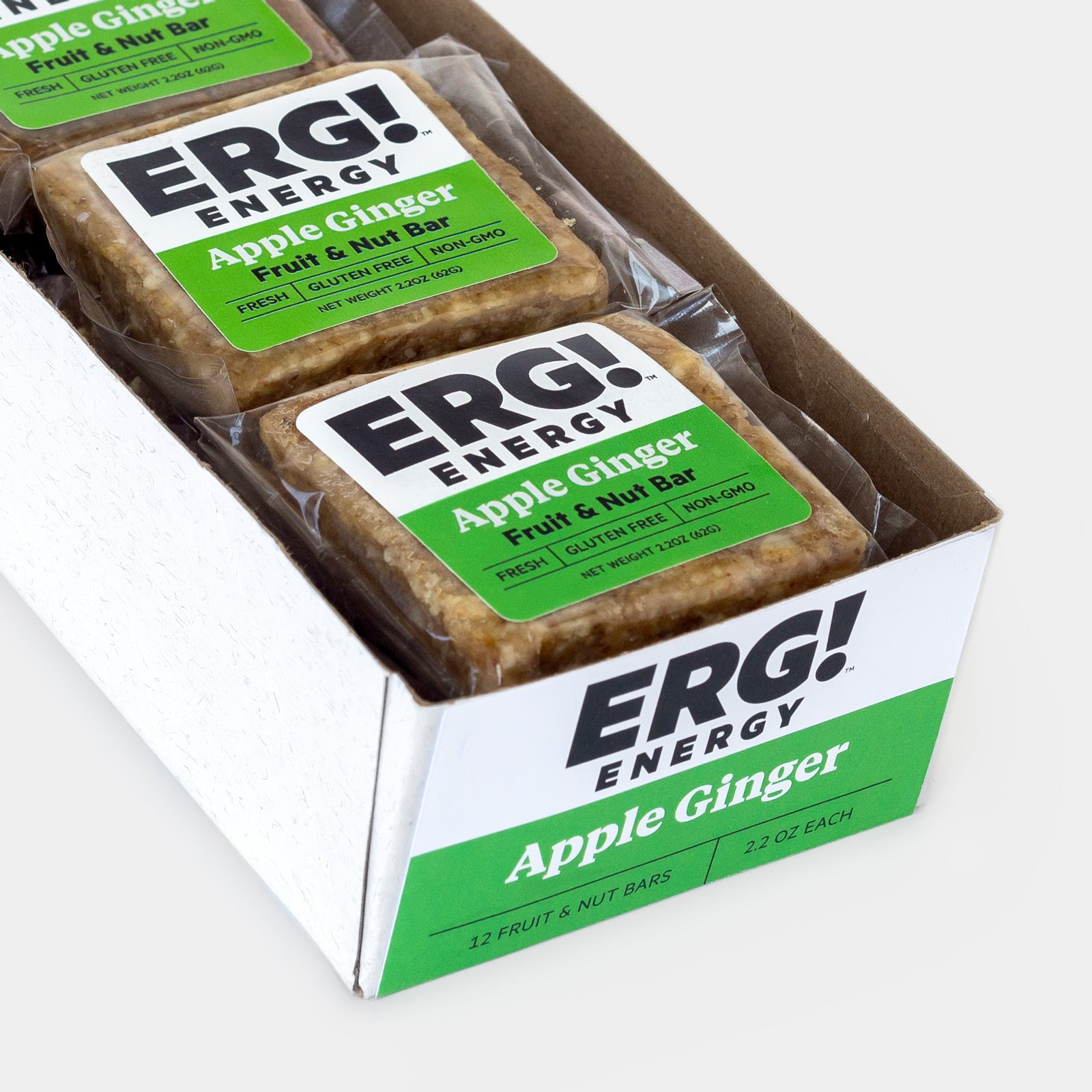 Apple Ginger ERG! - Box of 12 Bars