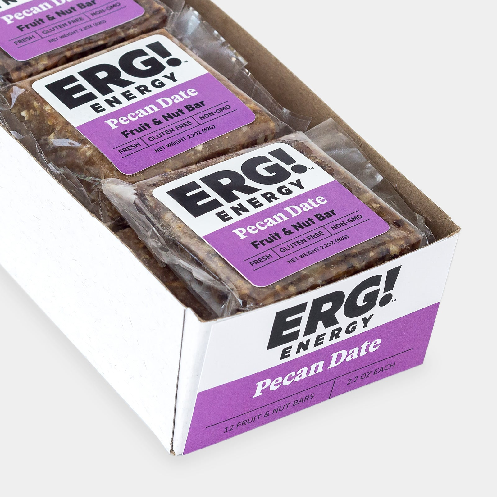 Pecan Date ERG! - Box of 12 Bars