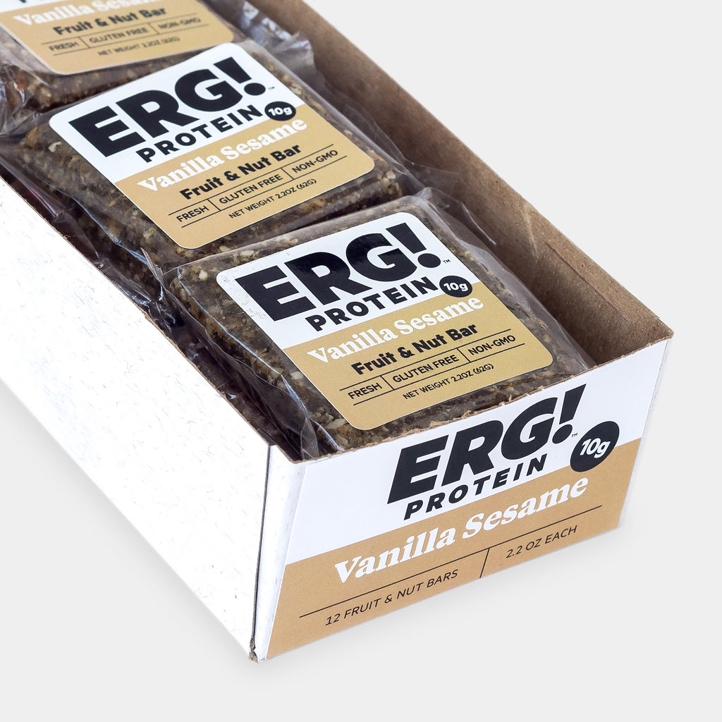 Vanilla Sesame ERG! Bars - Box of 12