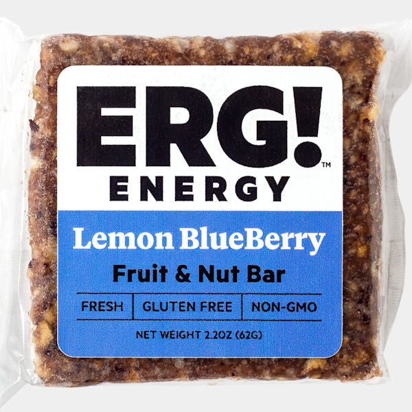 Lemon Blueberry ERG! Fruit & Nut Bar