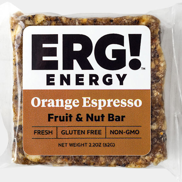 Orange Espresso ERG! Fruit & Nut Bar