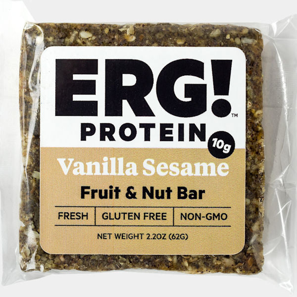 Vanilla Sesame ERG! Fruit & Nut Bar