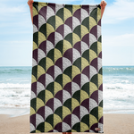 Baths of Caracalla Mosaic Beach Towel
