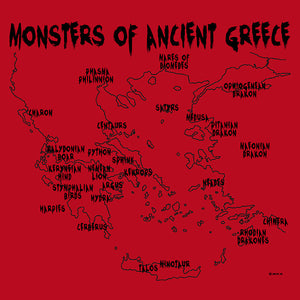 Monsters of Ancient Greece - Red (Women's)