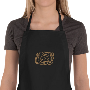 Mayan Cocoa Embroidered Apron