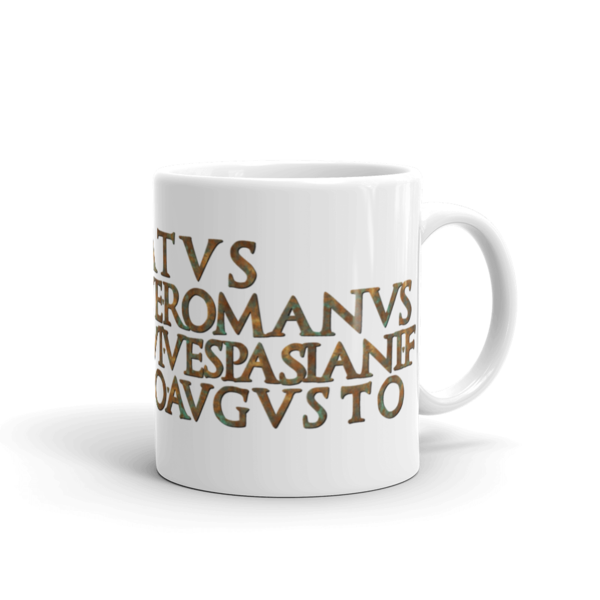 Arch of Titus Inscription Mug