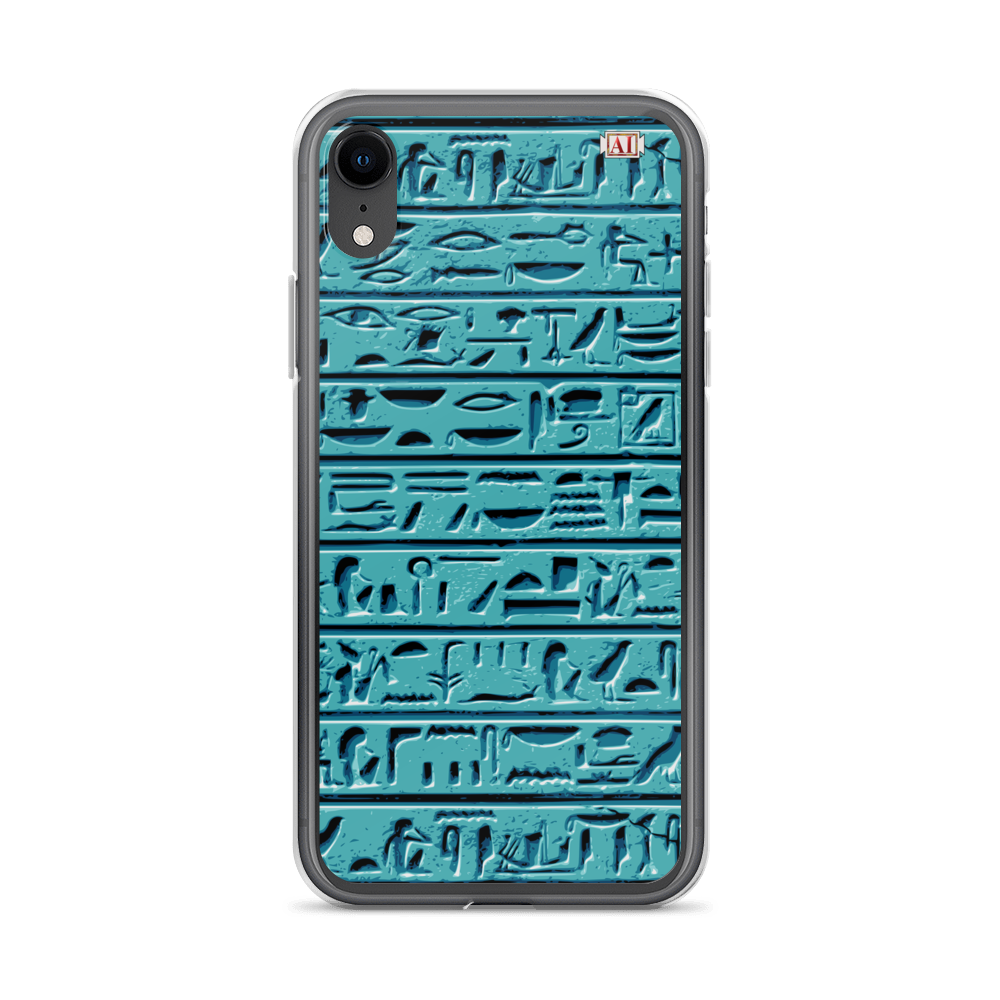 Egyptian Faience Hieroglyphics iPhone Case