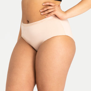 Classic Full Brief Beige - Miðlungs rakadrægni