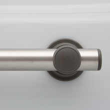 L-Bar SmartBar™ Brushed Stainless Steel Bar with Slate Mounts and Slate Flush Bar Caps. <span style='color:red'>Includes 3 fastener kits for wood studs (FK1001) <span>
